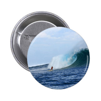 Surfing big blue wave surfer pins