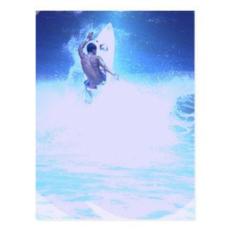 Surfing Big Waves Postcard