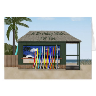 Surfing birthday card