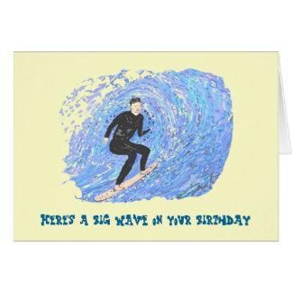 Surfing Bithday Card. Card