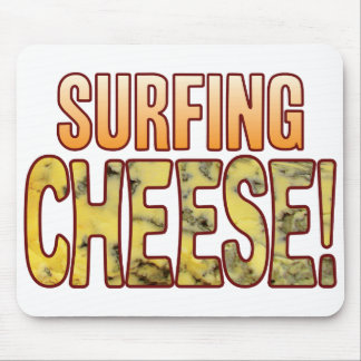 Surfing Blue Cheese Mouse Pad