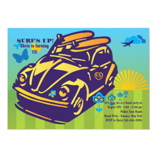 Surfing Buggy Invitation
