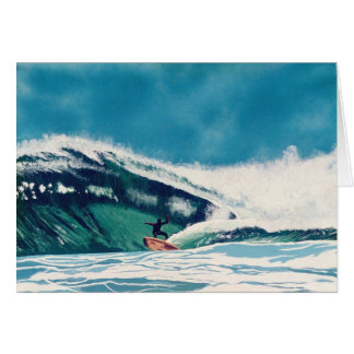 Surfing California Surfer Greeting Card Art