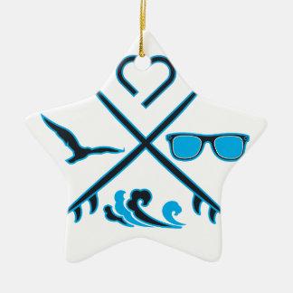 Surfing Ceramic Star Decoration