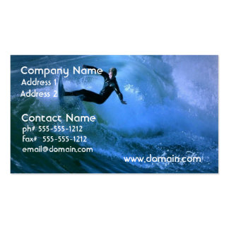 Surfing Curl Business Card