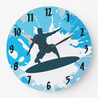 Surfing Design Wall Clock