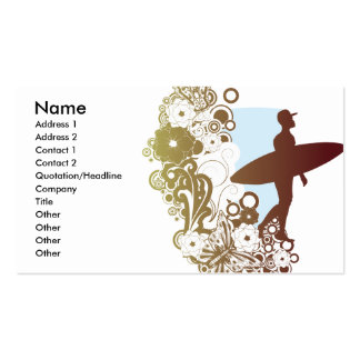 surfing dreams pack of standard business cards