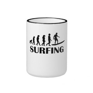 Surfing Evolution Coffee Mug