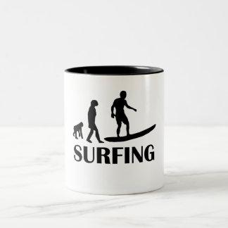 Surfing Evolution Mugs