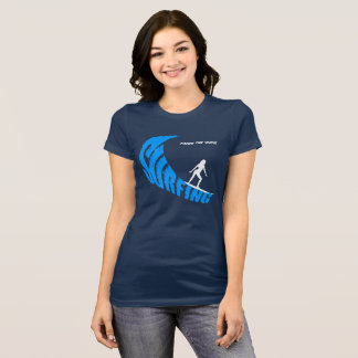 Surfing female customizable T-Shirt