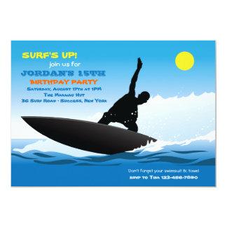 Surfing Fun Birthday Party Invitation