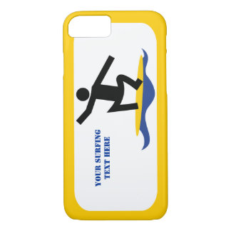 Surfing gifts, surfer on his surfboard modern iPhone 7 case