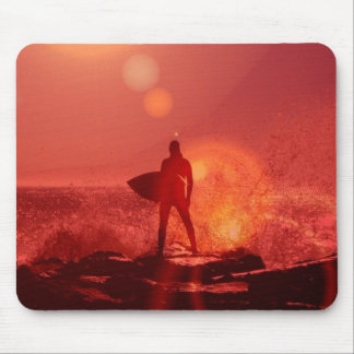 Surfing God  Mouse Pad