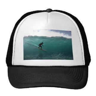 Surfing green wave Bali Cap