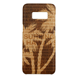Surfing Hawaii Palm Trees Faux Wood Tropical Case-Mate Samsung Galaxy S8 Case