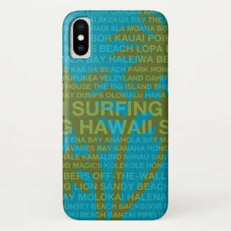 Surfing Hawaii Palm Trees Hawaiian Tropical iPhone X Case