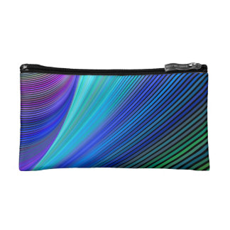 Surfing in a magic wave cosmetic bag
