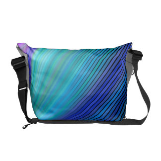 Surfing in a magic wave courier bag