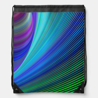 Surfing in a magic wave drawstring bag