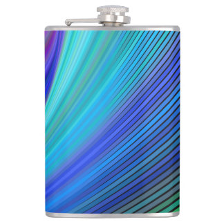 Surfing in a magic wave hip flask