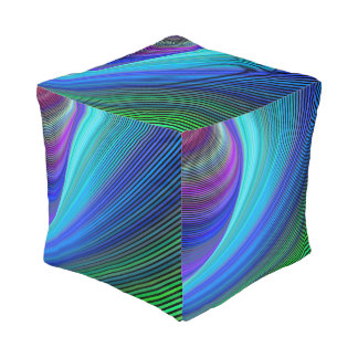 Surfing in a magic wave pouf