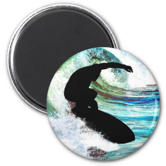 Surfing in Curling Wave Fridge Magnets