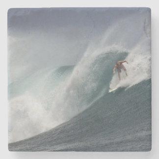 Surfing indonesia java island stone coaster