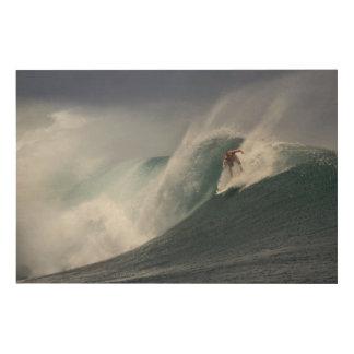 Surfing indonesia java island wood print