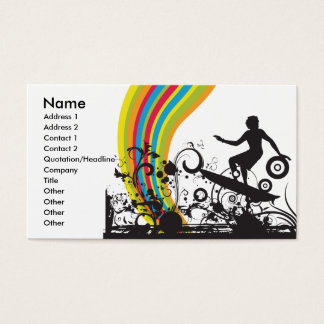 surfing into rainbows business card