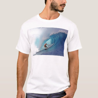 Surfing large blue wave Mentawai Islands T-Shirt