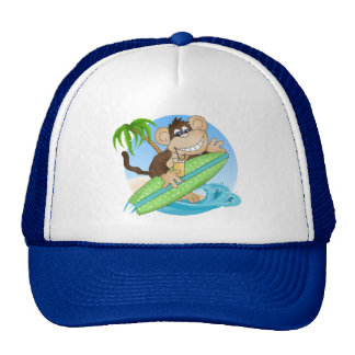 Surfing Monkey Beach Cartoon hat
