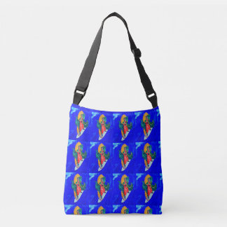 surfing nuns blue tote bag