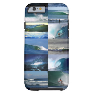 Surfing ocean waves montage tough iPhone 6 case