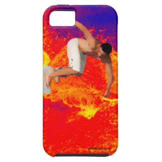 Surfing on fire phone case