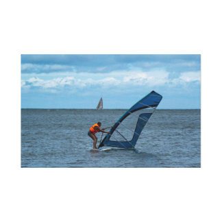 Surfing on the Baltic Sea Canvas Print