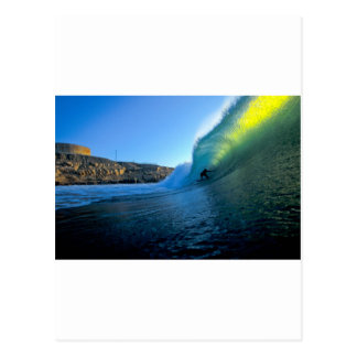 Surfing perfect wave Panic Point Peru Postcard