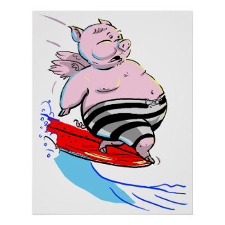 sUrFiNg PiG Poster