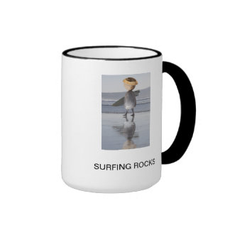 Surfing Rocks Ringer Mug