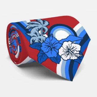 Surfing Safari Hawaiian Two-sided Printed Tie