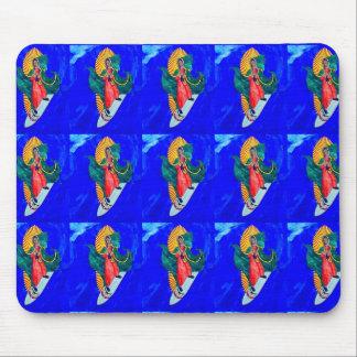 surfing saints on blue mousepad