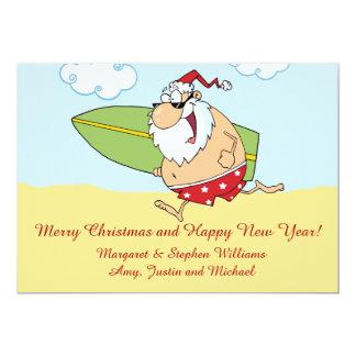 Surfing Santa Card