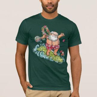 Surfing Santa Christmas Shirt