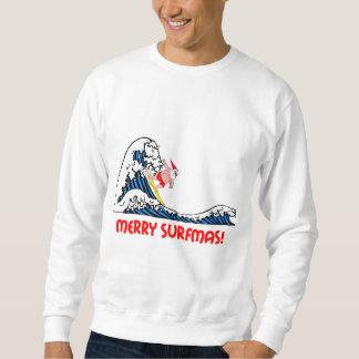 Surfing Santa Pull Over Sweatshirt