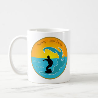 Surfing Soul Rising Coffee Mug