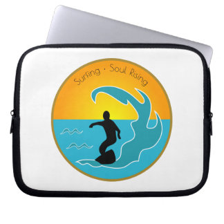 Surfing Soul Rising Laptop Sleeve