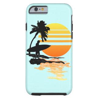 Surfing Sunrise Tough iPhone 6 Case