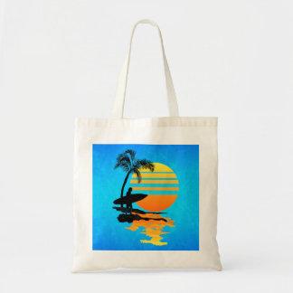Surfing Sunrise Budget Tote Bag