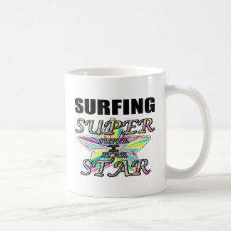 Surfing Superstar Basic White Mug