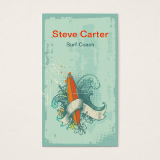 Surfing , Surf Coach Trainer Master Water Sport Business Card