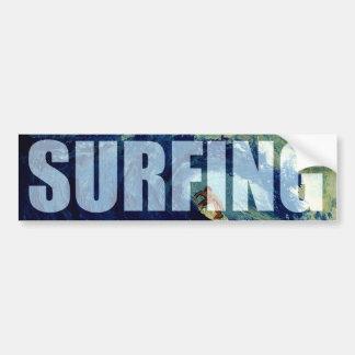 Surfing Surf Water Sports Bumper Sticker Artwork